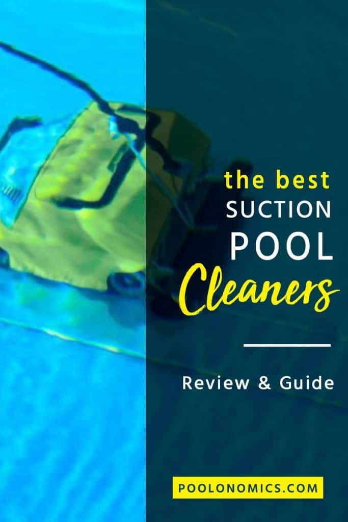 Suction pool cleaners are an automatic pool cleaner to keep the bottom of your pool perfectly clean. In this guide, we'll cover everything you need to consider before buying a suction pool cleaner. #poolonomics #poolcleaning #poolmaintenance