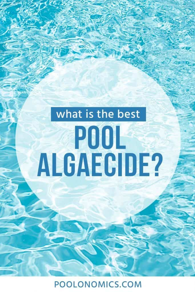 Pool algaecide kills and prevents growth of algae in your water. Read on for our guide on buying pool algaecide, including the best ways to treat various types of algae, and ensure your pool stays algae-free and ready for a swim.  #poolonomics #swimmingpool #algae