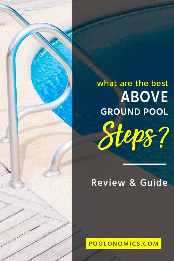 The benefit of owning pool ladders/stairs is helping you get into and out of the water. Find out what you need to consider when buying a pool ladder and ensure you're making a safe decision for you and your family #poolonomics #backyard #abovegroundpool